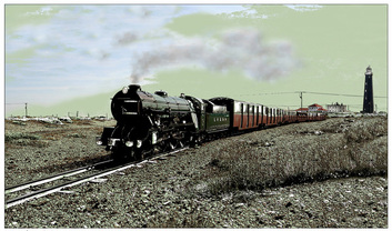 Dungeness,southern maid,train,railway,