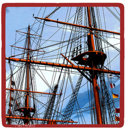 Sailing ship masts art print